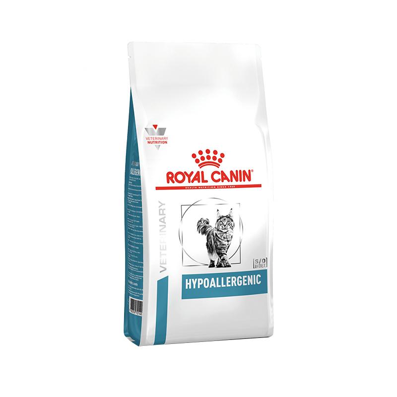 عکس بسته بندی غذای خشک گربه رویال کنین مدل HypoAllergenic وزن 2.5 کیلوگرم
