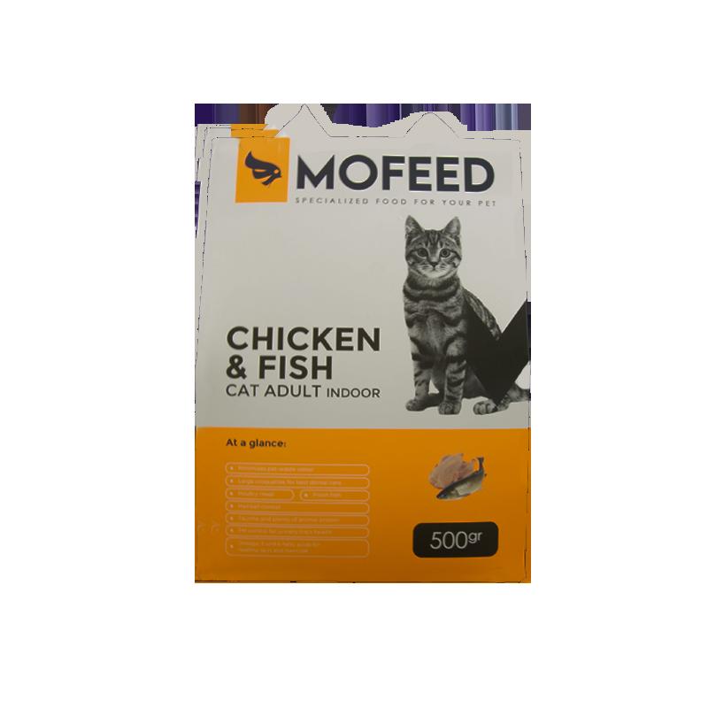 غذای خشک گربه مفید با طعم مرغ و ماهی وزن 500 گرم