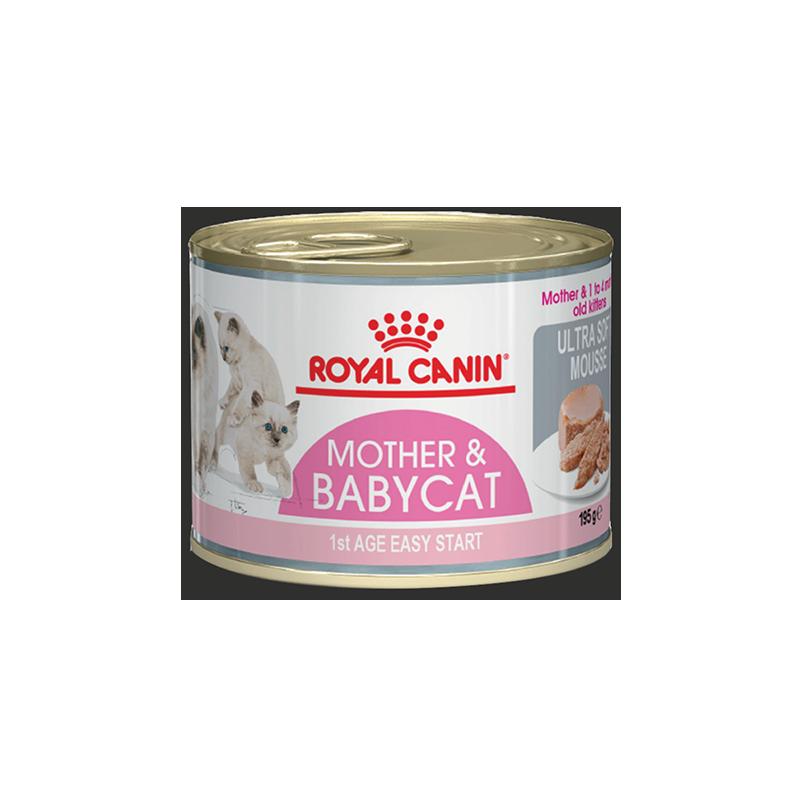 عکس بسته بندی کنسرو بسته غذای خشک و تر گربه رویال کنین مدل Mother & Baby