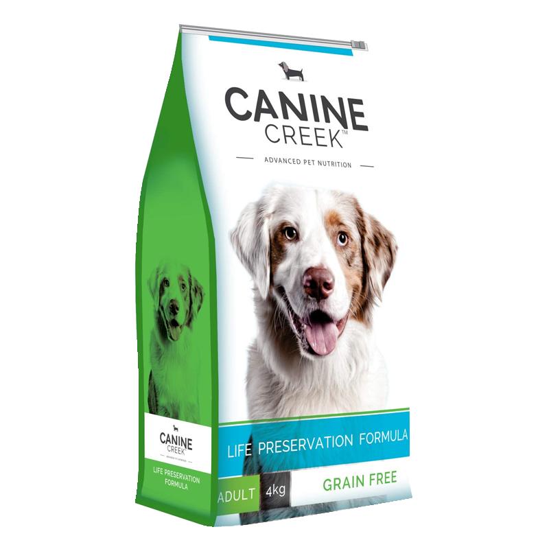عکس روی بسته بندی غذای خشک سگ کنین کریک مدل Adult وزن 4 کیلوگرم
