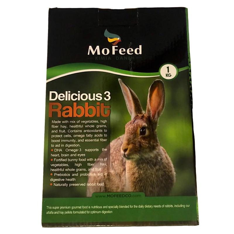 عکس بسته بندی غذای خرگوش مفید مدل Rabbit Delicious وزن 1 کیلوگرم