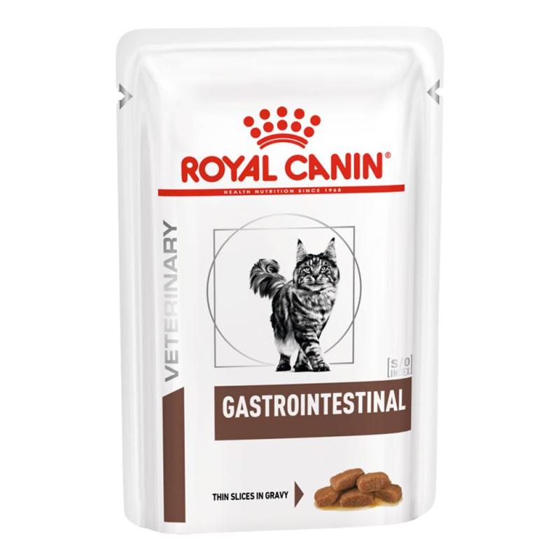 عکس بسته بندی پوچ گربه رویال کنین مدل Gastrointestinal وزن ۸۵ گرم