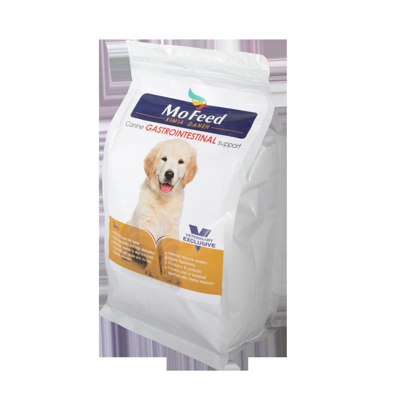 عکس دوم بسته بندی غذای خشک سگ مفید مدل gastro intestinal وزن 2 کیلوگرم