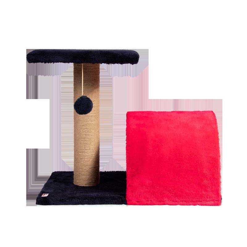 عکس از رو به رو اسکرچر و جای خواب کدیپک مدل سنجد قرمز سرمه ای