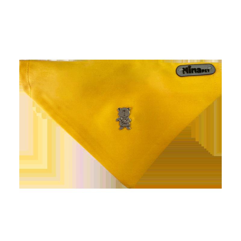 قلاده و دستمال گردن سگ نیناپت مدل طرح دار سایز کوچک زرد