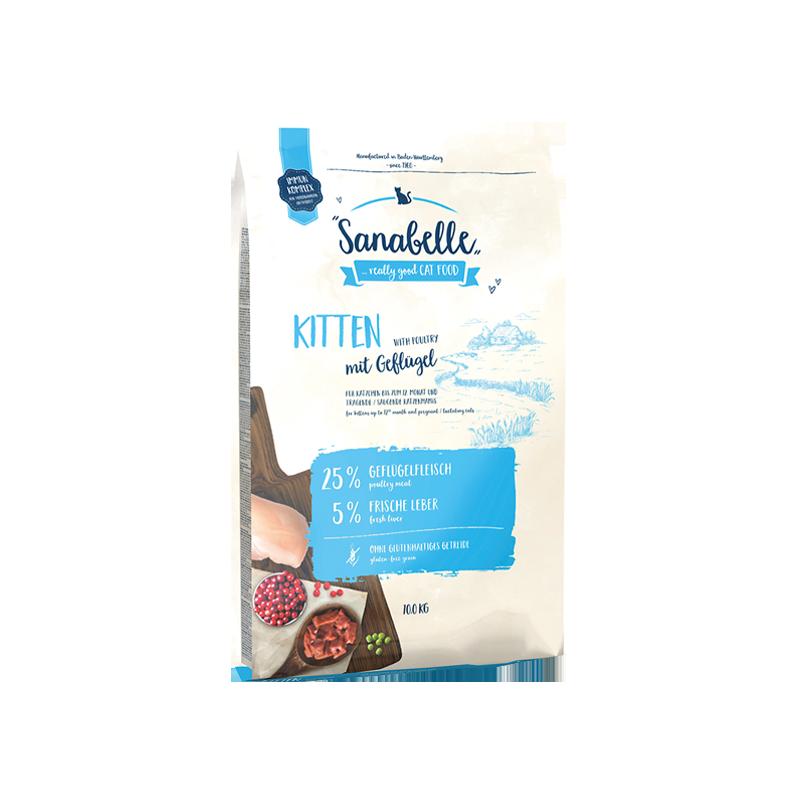 غذای خشک بچه گربه سانابل Sanabelle With Poultry Kitten وزن 2 کیلوگرم