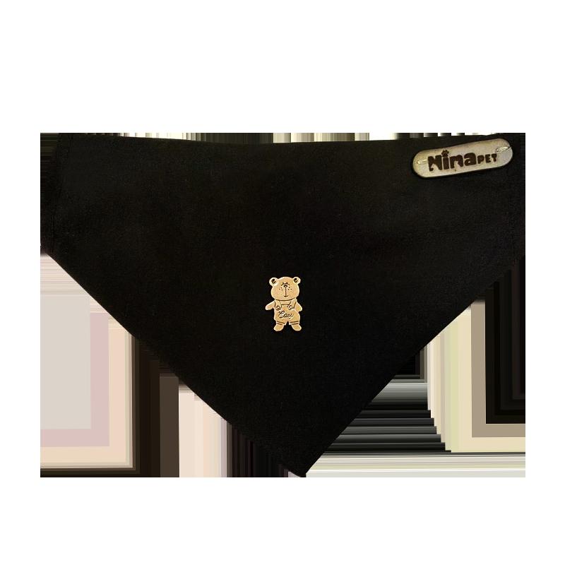 قلاده و دستمال گردن سگ نیناپت مدل طرح دار سایز کوچک مشکی
