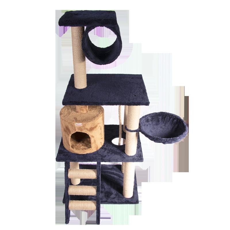 عکس از بالا اسکرچر ، لانه ، جای خواب ، تونل و درخت کدیپک مدل انار سرمه ای نسکافه ای