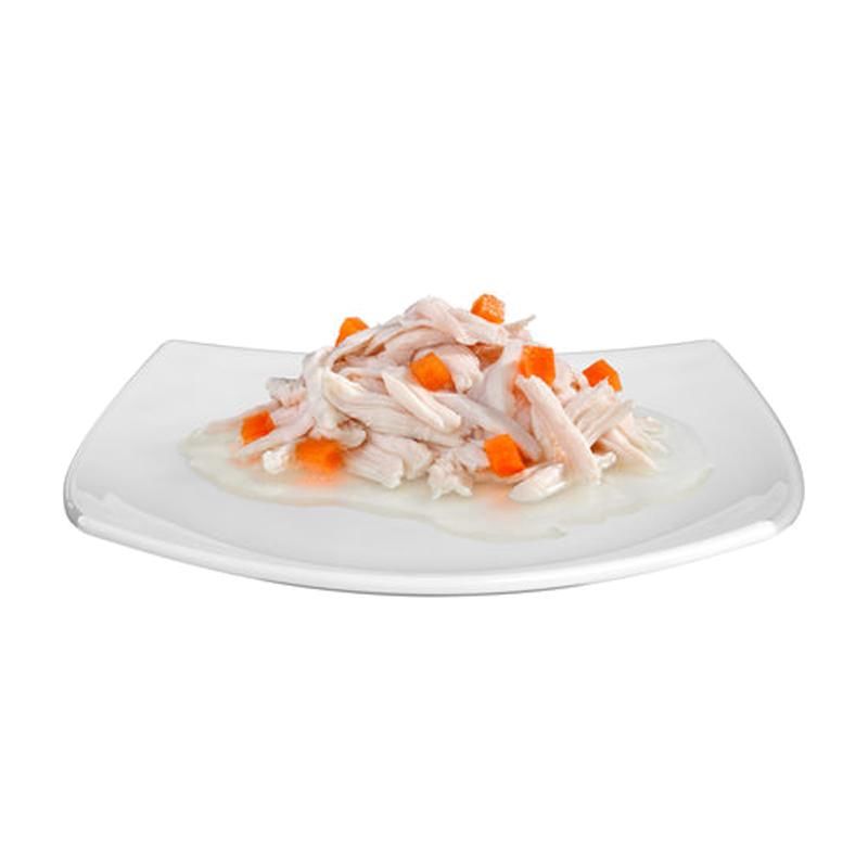عکس محصول کنسرو غذای گربه جیم کت مدل Chicken Fillet and Carrot وزن 70 گرم