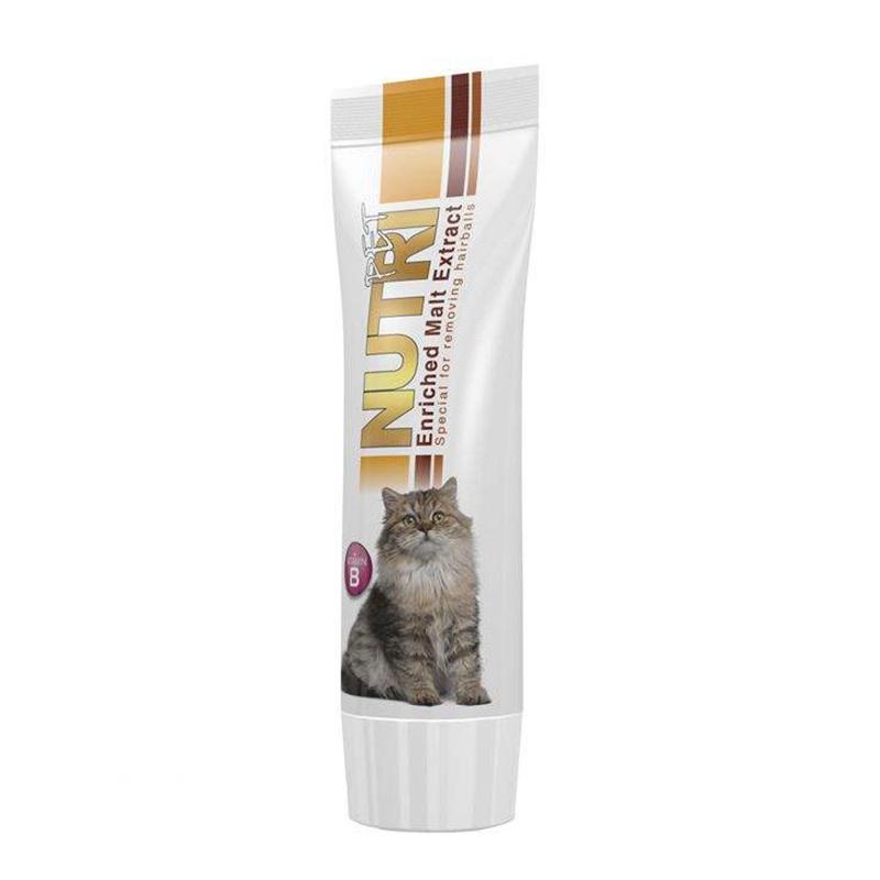 عکس بسته بندی خمیر مالت گربه نوتری مدل Enriched Malt Extract وزن 80 گرم