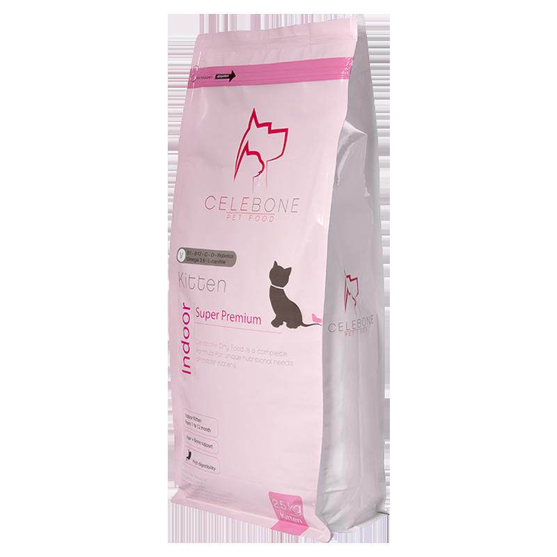 عکس بسته بندی غذای خشک بچه گربه سلبن مدل Kitten وزن 2.5 کیلوگرم