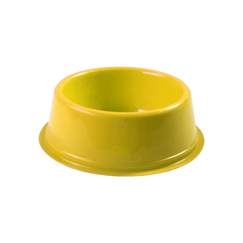 ظرف غذای حیوانات هپی پت مدل فلور S زرد