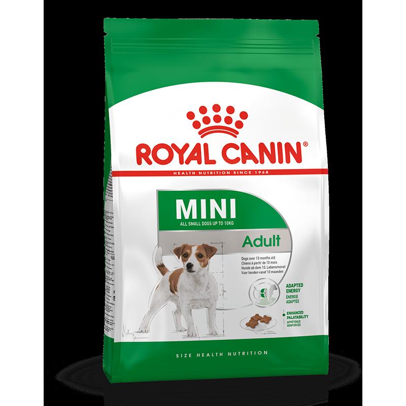 عکس بسته بندی غذای خشک بسته غذای خشک و تر سگ رویال کنین مدل Mini Adult