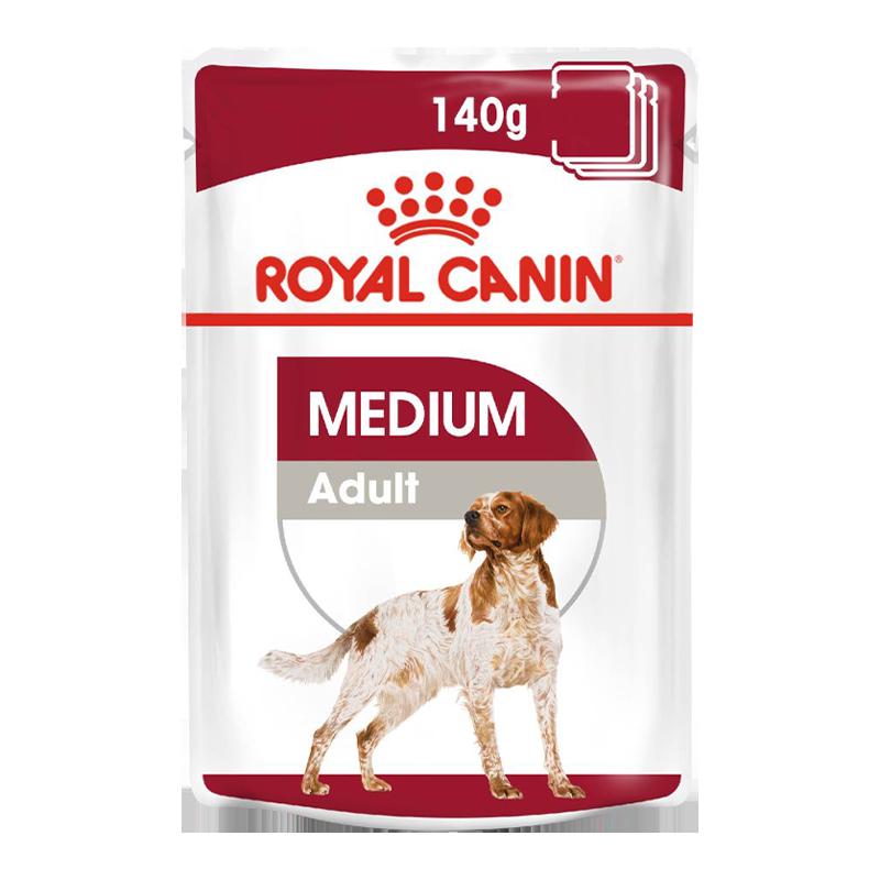 عکس بسته بندی پوچ بسته غذای خشک و تر سگ رویال کنین مدل Medium Adult