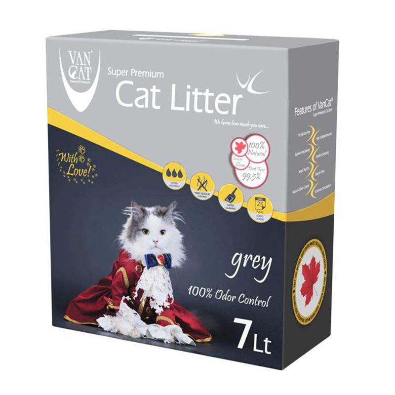 عکس بسته بندی خاک گربه ون کت مدل Grey حجم 7 لیتر