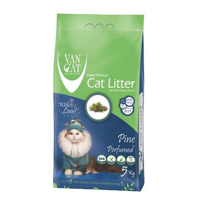 عکس بسته بندی خاک گربه ون کت مدل Pine وزن 5 کیلوگرم