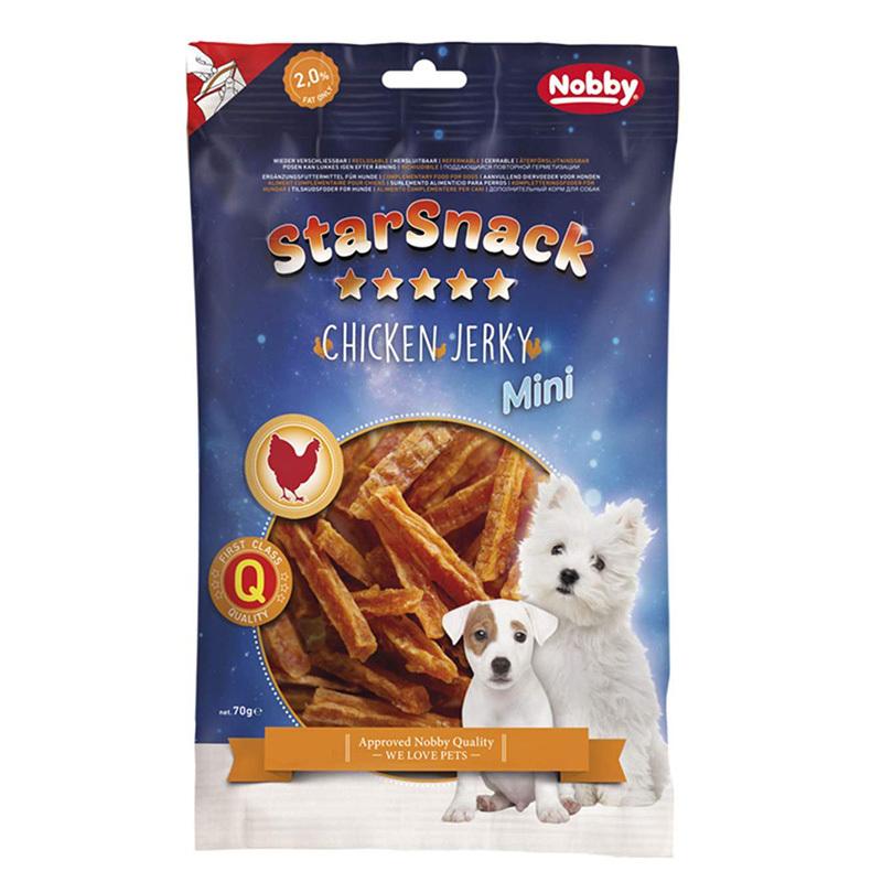 عکس بسته بندی تشویقی سگ نوبی مدل Jerky-ch وزن 70 گرم