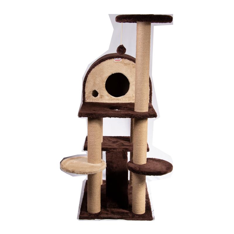 عکس از رو به رو اسکرچر ، لانه ، جای خواب و درخت کدیپک مدل توسکا رنگ قهوه ای