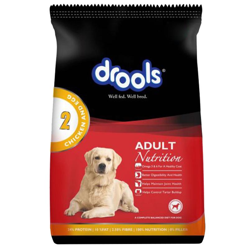 عکس بسته بندی غذای خشک سگ درولز مدل Adult Chicken & Egg وزن 12 کیلوگرم