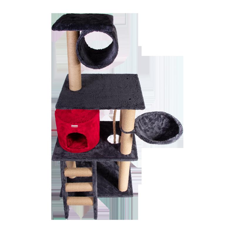 عکس از بالا اسکرچر ، لانه ، جای خواب ، تونل و درخت کدیپک مدل انار قرمز ذغالی