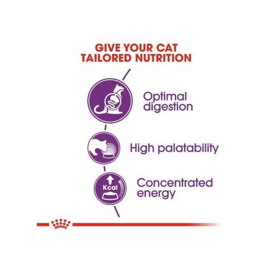 عکس جزییات غذای خشک گربه رویال کنین مدل Sensible وزن 2 کیلوگرم