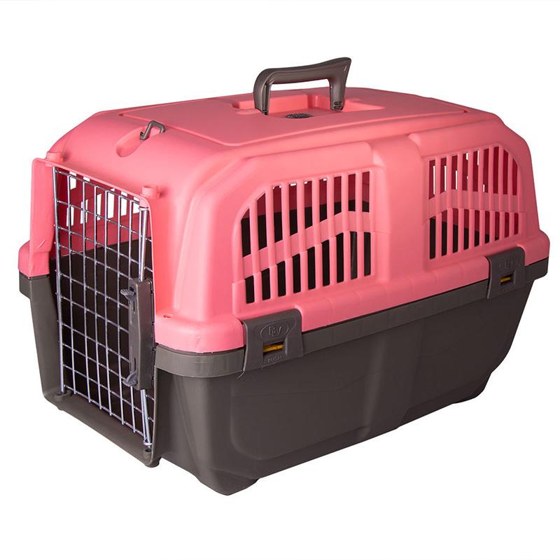 عکس باکس حمل سگ و گربه هپی پت مدل پانیتو رنگ گلبهی