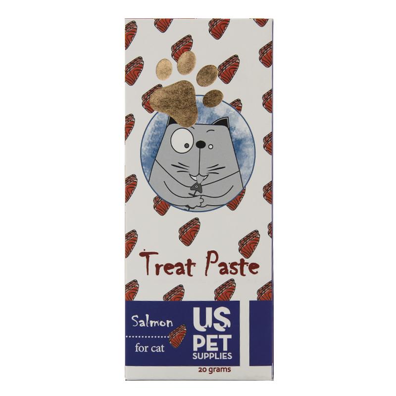 عکس بسته بندی بستنی گربه یو اس پت مدل Salmon بسته 10 عددی