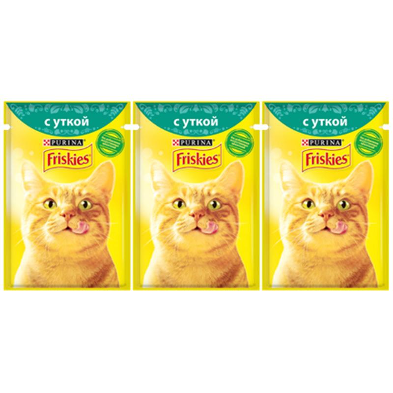 عکس باندل بسته پوچ گربه فریسکیز مدل Duck وزن 85 گرم مجموعه ۳ عددی