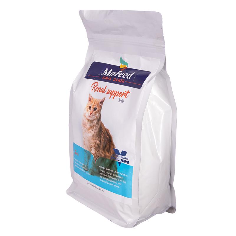 عکس جزییات بسته بندی غذای خشک گربه مفید مدل Renal Support وزن 2 کیلوگرم