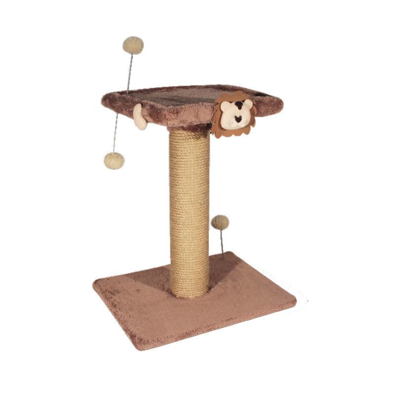 عکس اسکرچر دو طبقه نیناپت مدل عروسک دار رنگ قهوه ای روشن