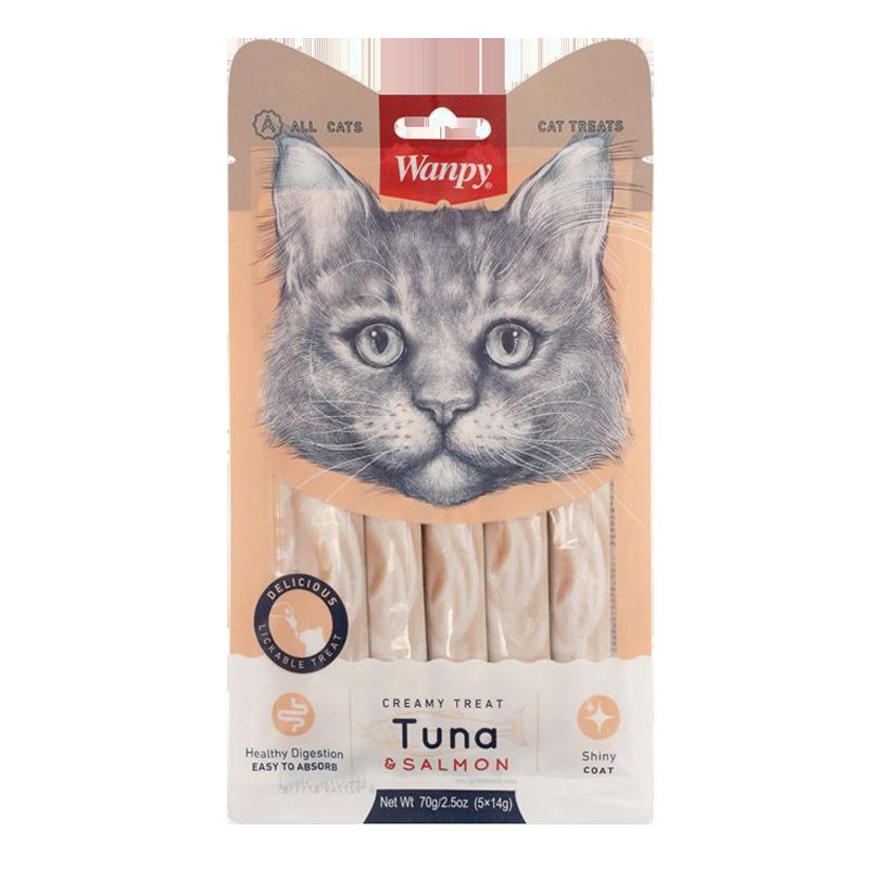 عکس بسته بندی بستنی گربه ونپی مدل Tuna & Salmon بسته ۵ عددی