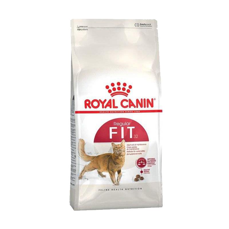 عکس بسته بندی غذای خشک گربه رویال کنین مدل Regular Fit 32 وزن 400 گرم