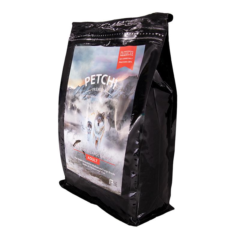 عکس جزییات بسته بندی غذای خشک پرمیوم سگ پتچی مدل Adult Medium & Large وزن 3.7 کیلوگرم