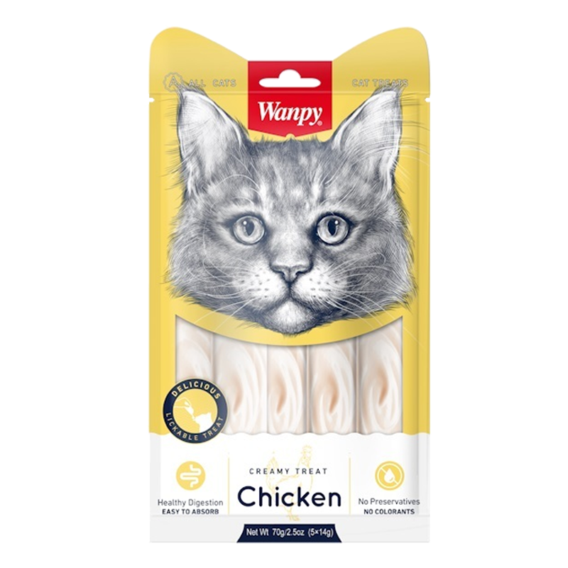 عکس بسته بندی جدید بستنی گربه ونپی مدل Chicken بسته ۵ عددی