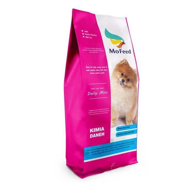 عکس جزییات بسته بندی غذای خشک سگ مفید مدل Daily Mini وزن 2 کیلوگرم
