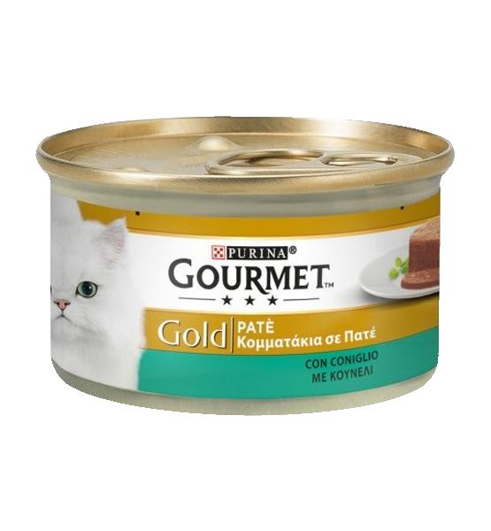 عکس کنسرو غذای گربه گورمت مدل Gold Rabbit وزن ۸۵ گرم