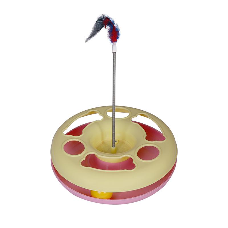 عکس اسباب بازی گربه هپی پت مدل مشا رنگ صوتی زرد