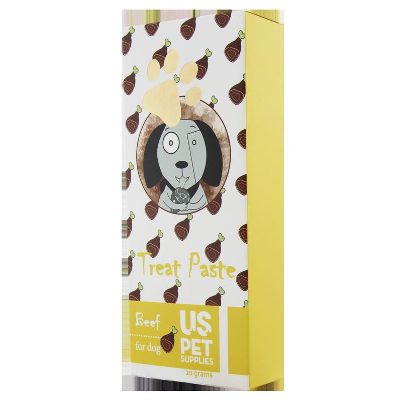 عکس جزییات بستنی سگ یو اس پت مدل Beef بسته 10 عددی