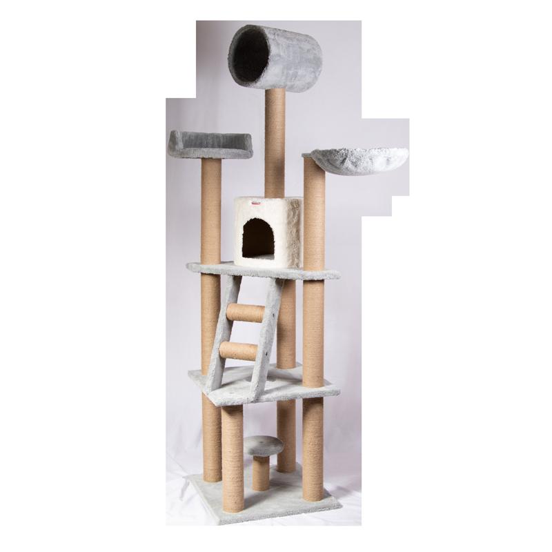 عکس اسکرچر ، لانه ، جای خواب و تونل گربه کدیپک مدل بلوط رنگ طوسی