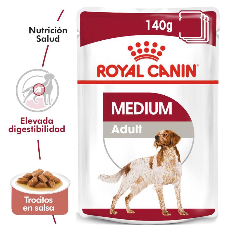 عکی پوچ و جزییات بسته غذای خشک و تر سگ رویال کنین مدل Medium Adult