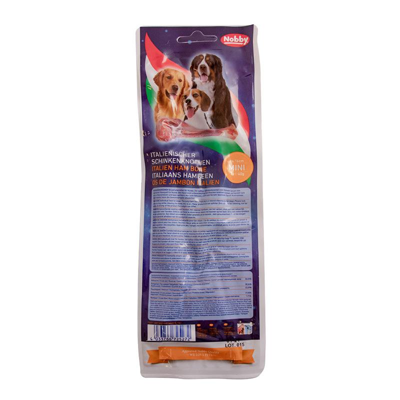 عکس پشت بسته بندی تشویقی سگ نوبی کد 72527 وزن 120 گرم