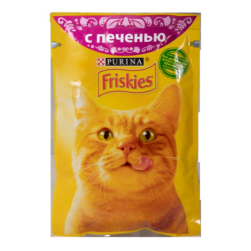 عکس بسته بندی پوچ گربه فریسکیز مدل Liver وزن 85 گرم