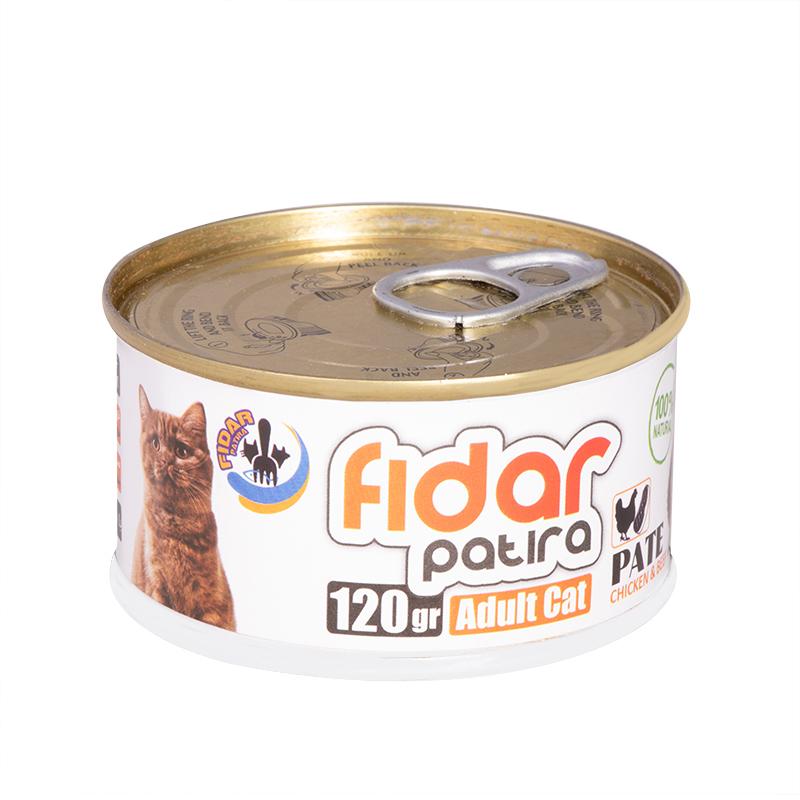 عکس کامل کنسرو غذای گربه فیدار مدل Adult Chicken & Beef وزن 120 گرم