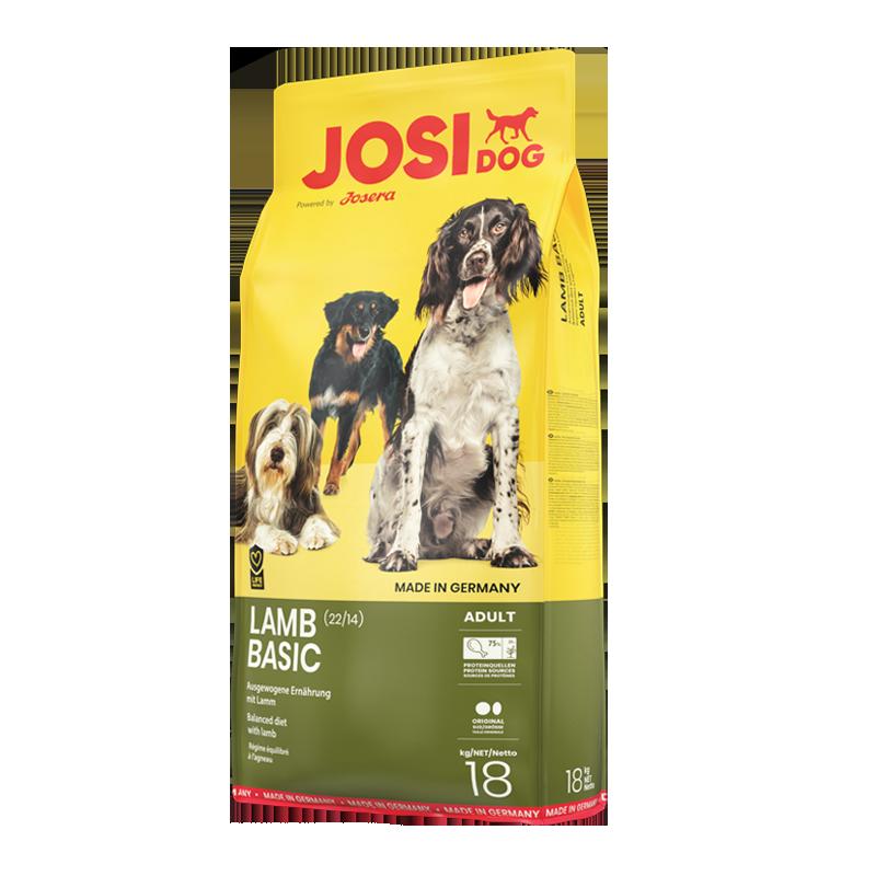 عکس بسته بندی تبلیغاتی غذای خشک سگ جوسرا مدل Lamb Basic وزن 1 کیلوگرم