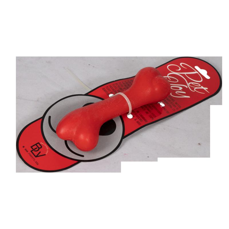 اسباب بازی دندانی سگ هپی پت مدل استخوان رنگ قرمز 2