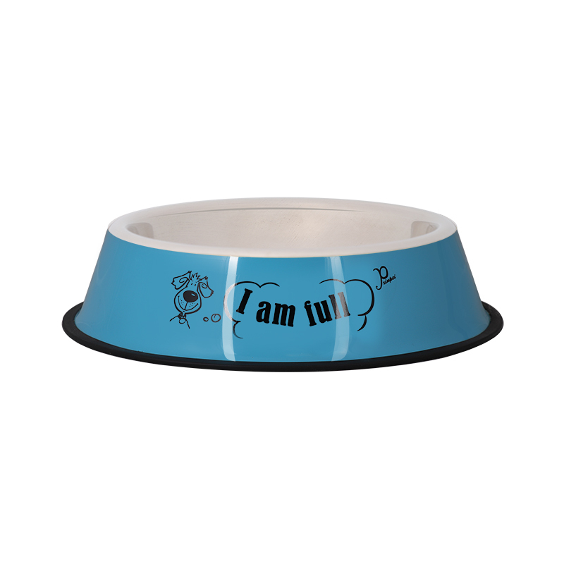 عکس ظرف غذای حیوانات قطر 24 سانتی متر رنگ آبی