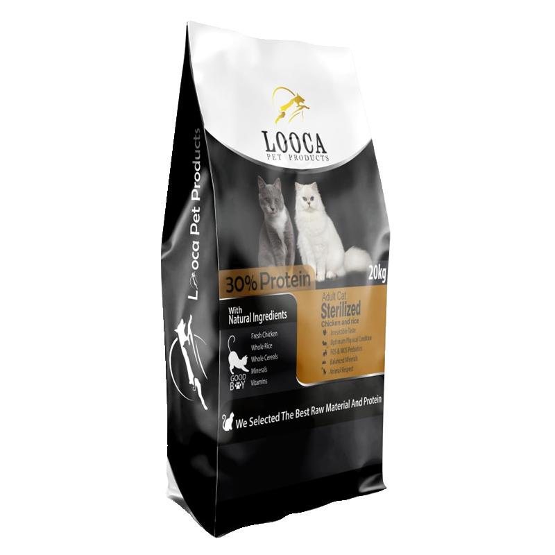 عکس روی بسته بندی غذای خشک گربه لوکا مدل Sterilized وزن 2 کیلوگرم