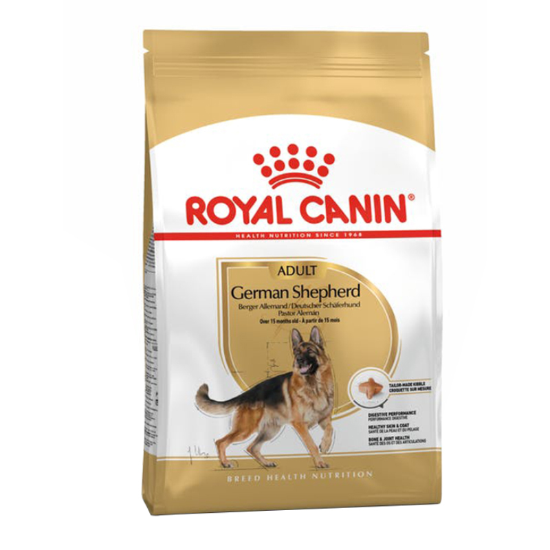عکس بسته بندی غذای خشک سگ رویال کنین مدل German Shepherd وزن 11 کیلوگرم