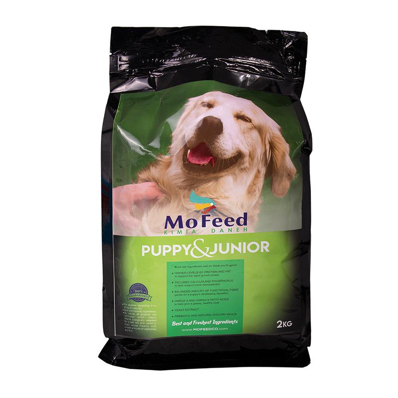 عکس بسته بندی غذای خشک سگ مفید مدل Puppy & Junior وزن 2 کیلوگرم