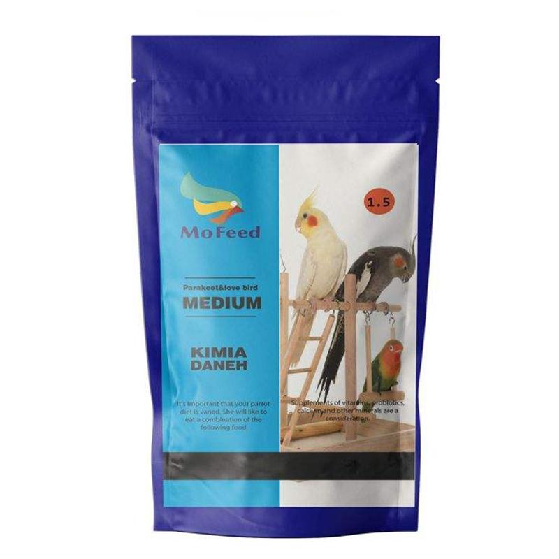 عکس بسته بندی غذای عروس هلندی مفید مدل Medium Parakeet & Love Bird وزن 1 کیلوگرم